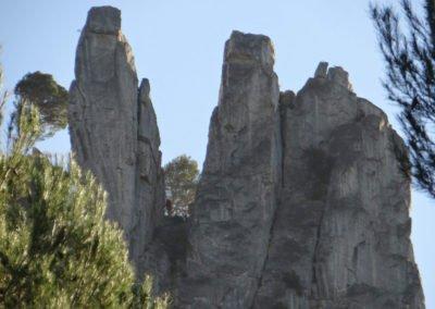 Saint Antonin Noble Val (82) : rocher du Capucin