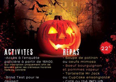 Soirée Halloween 31 octobre 2020