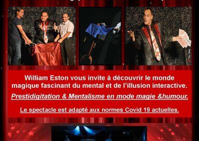 Repas + spectacle Magic Show – le 23 juillet 2021 et le 20 aout 2021